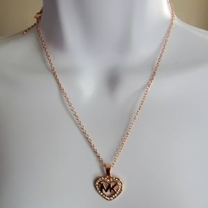 MK rose gold necklace